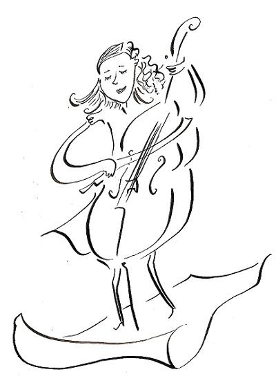 Thècle au violoncelle